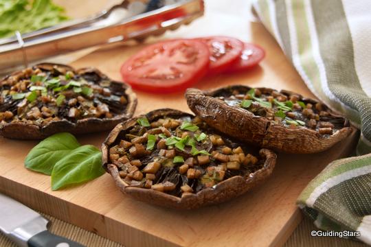 Ginger-Marinated Grilled Portobello Mushrooms