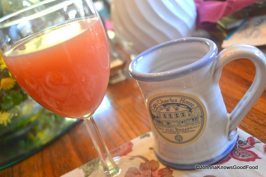 Cape Charles House Bed & Breakfast Breakfast Drinks