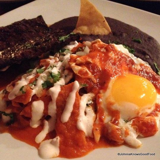 Chilaquiles con Huevo at Casa Oaxaca