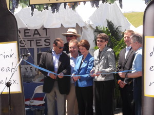 cutting of the ribbon at the festival