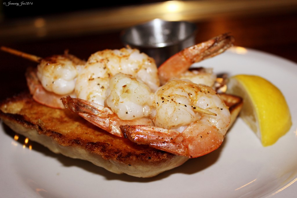 Grilled Shrimp on Ciabatta