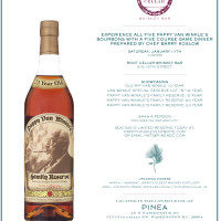 Pappy Van Winkle Bourbon Takes Over Pinea's Dinner Table