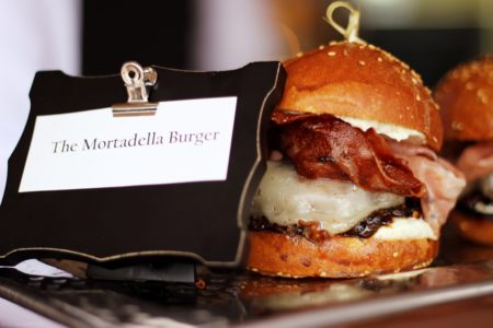 Image via Jai Williams/Januari Jai Media The Mortadella Burger at The Capella Hotel