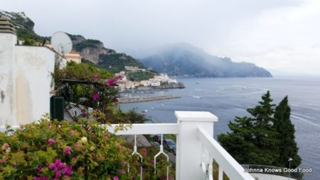 View from my room at the Hotel Bellevue in Amalfi