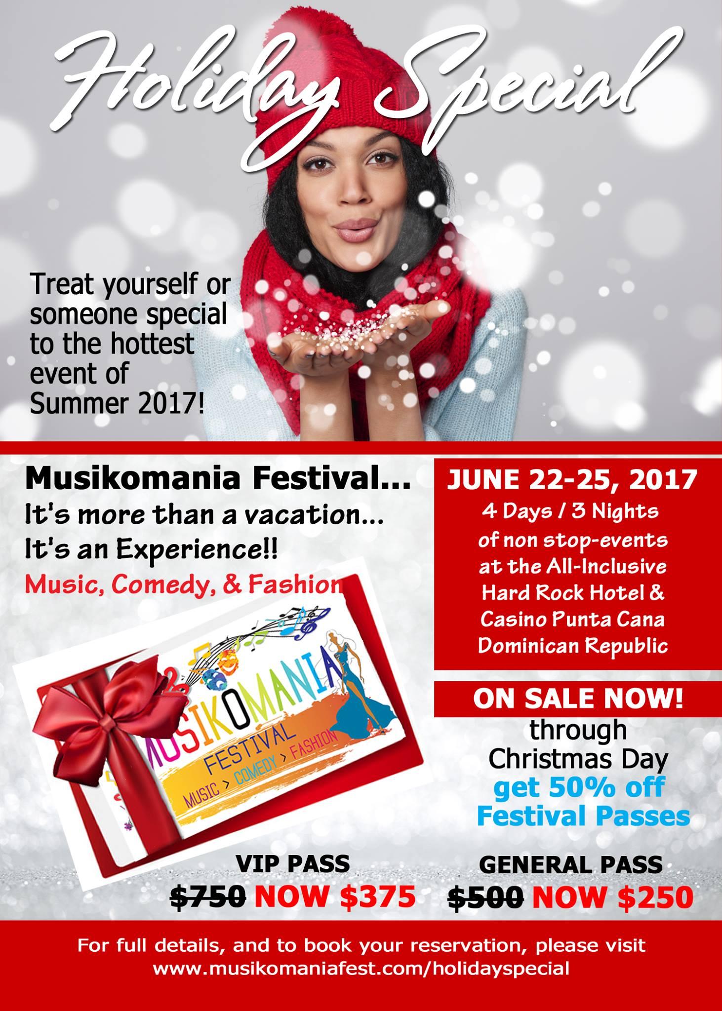 Musikomania Festival Holiday Special Postcard