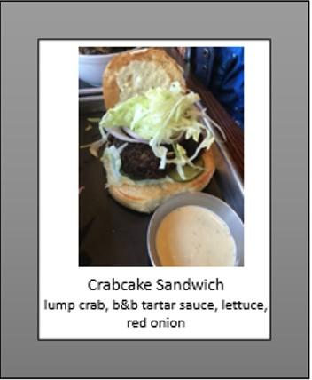 crabcake sandwich
