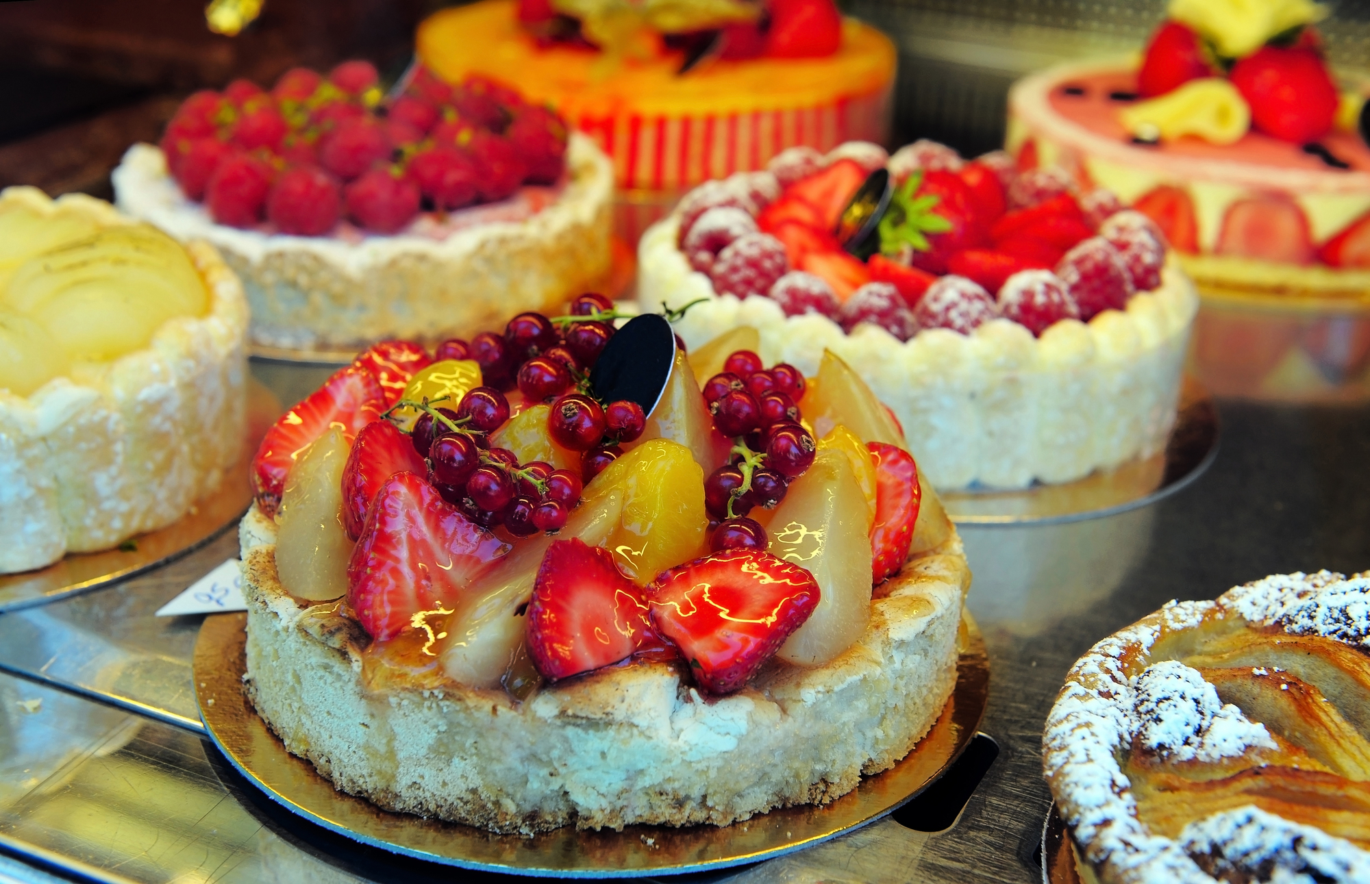 Cakes in a shop