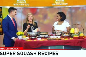 JKGF Does Fall/Winter Squash Four Ways As Seen On WJLA7 Good Morning Washington